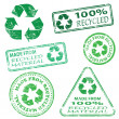 Recycled Stamps — Stock Vector