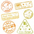 Free Range Rubber Stamps — Stock Vector