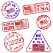 Royalty-Free Stock Vector Image: Made In America Stamps