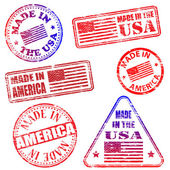 Made In America Stamps — Stock Vector