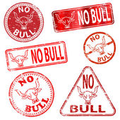 No Bull Stamps — Stock Vector