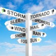 Weather Signpost - Stock Photo