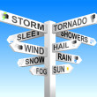 Royalty-Free Stock Imagem Vetorial: Weather Signpost