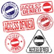 Stock Vector: Access Denied Stamps