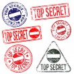 timbres top secrète — Vecteur