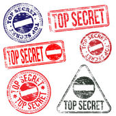 Top Secret Stamps — Stock Vector