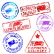 Express Delivery Stamps — Stock Vector