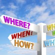 Question Signpost — Stock Photo #25065257