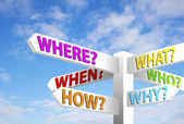 Question Signpost — Stock Photo