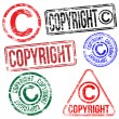 Stock Vector: Copyright Stamps