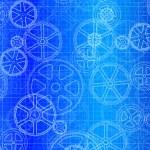 Gear Wheels Blueprint — Stock Vector #25345961
