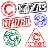 Copyright Stamps — Stock Vector