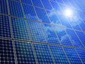 Solar Panel Array — Stock Photo