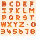 Постер, плакат: Origami Alphabet