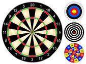 Dart Boards — Stock Vector