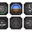 Stock Vector: Aircraft Instruments