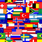 Repeating Flags Background — Stock Photo