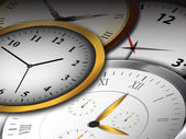 Clocks Background — Stock fotografie