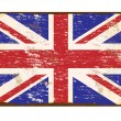 UK Flag Enamel Sign — Stock Vector