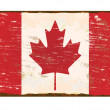 Canada Flag Enamel Sign — Stock Vector