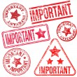 Important Rubber Stamps — Stock Vector
