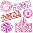 Coming Soon Rubber Stamps — Stock Vector