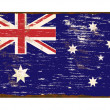 Stock Vector: Australian Flag Enamel Sign