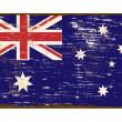 Australian Flag Enamel Sign — Stock Vector