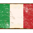 Italian Flag Enamel Sign — Stock Vector