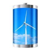 Wind Turbine Battery — Stock Photo