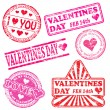 Valentines Day Rubber Stamps — Stockvektor