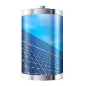 Solar Panel Battery — Stock Photo