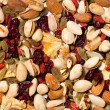 Repeating Fruit and Nut Background — Stock Photo