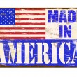 Stock Vector: Made In America Enamel Sign