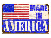 Made In America Enamel Sign — Stock Vector