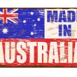 Made In Australia Enamel Sign — Stock Vector