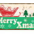 Merry Xmas Enamel Sign — Stock Vector