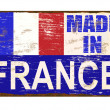 Stok Vektör: Made In France Enamel Sign