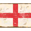 English Flag Enamel Sign — Stock vektor