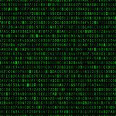 Repeating Hexadecimal Background — Stock Vector