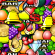 Stock Photo: Repeating Fruit Machine Background