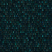 Repeating Blue Hexadecimal Background — Vettoriale Stock