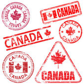 Canada Rubber Stamps — Stockvector