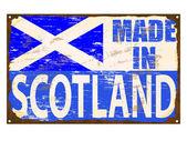 Made In Scotland Enamel Sign — Stock Vector