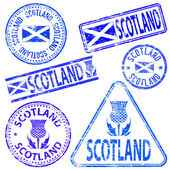 Scotland Rubber Stamps — Stock Vector