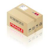 Cardboard Box — Stock Vector