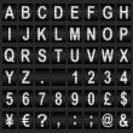 Mechanical Display Font — Stock Vector