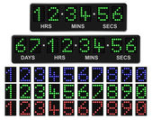LED Countdown Timer — Stock Vector