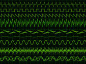 Oscilloscope Waves — Stock Vector