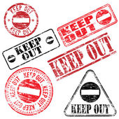 Keep Out Stamp — Stock Vector